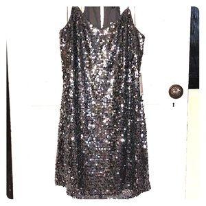 Charcoal Sequin express dress